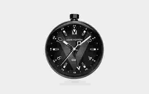 Louis Vuitton Tambour All Black Table Clock