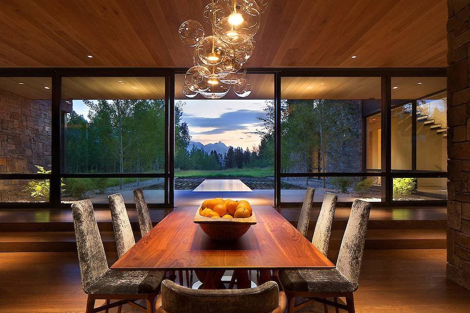 Located On A 40 Acre Site At The Base Of The Teton Range In Northwest  Wyoming, This 6,500 Sqaure Foot House Is Situated Atop A Gently Sloping  Knoll ...