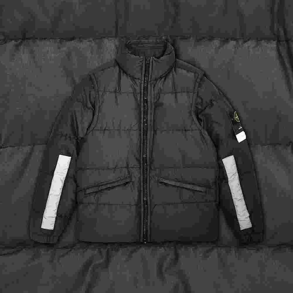 Stone Island Cotton Metal Watro Reflective Jacket