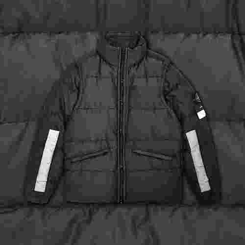 Stone Island Cotton Metal Watro Reflective Down Jacket