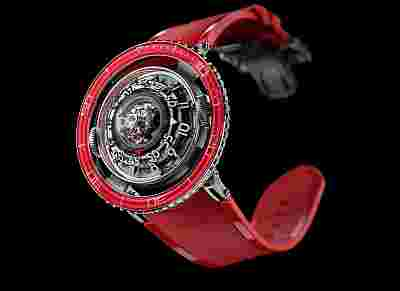 MB&F HM7 Aquapod Platinum Red Watch