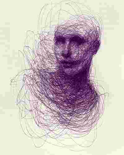 Adam Riches Ballpoint Pen Drawings