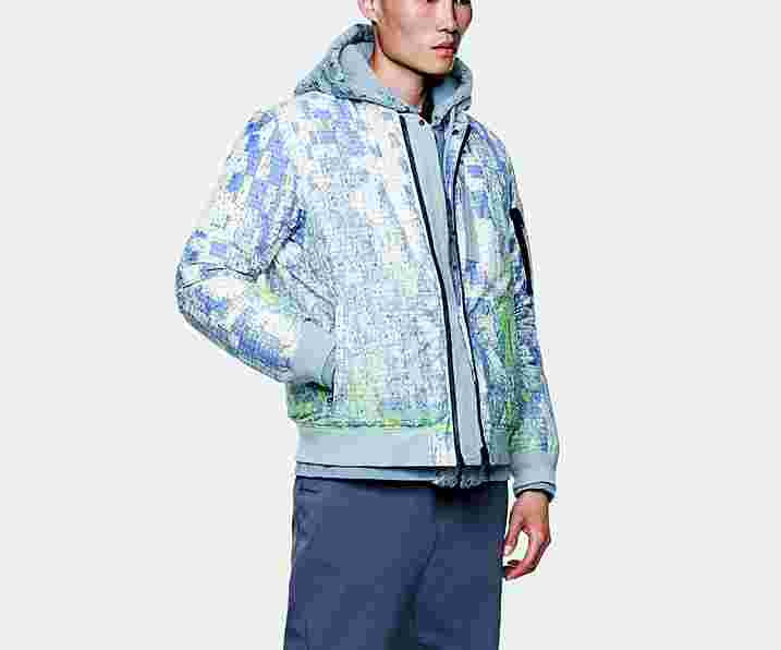 Stone Island Shadow Project DPM Printed Down Wool Bomber Jacket